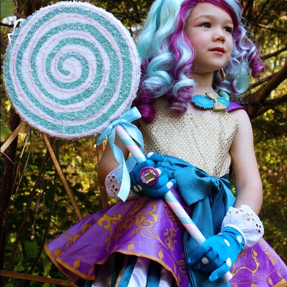 Madeline Hatter Wig Ever After High Fancy Dress Up Halloween Costume Accessory
